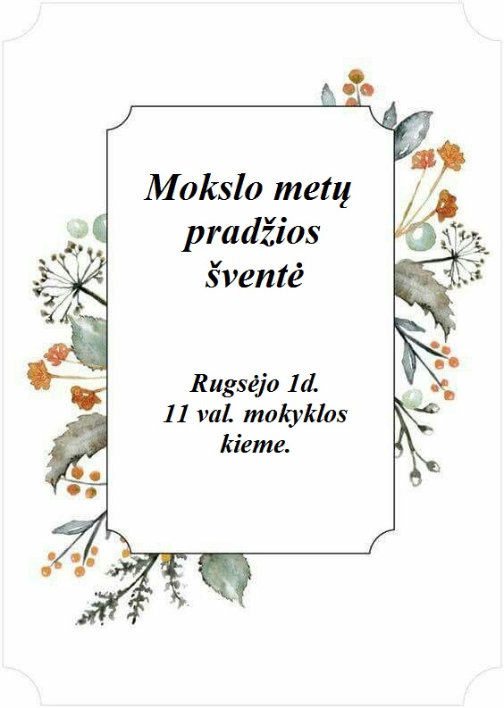 Read more about the article Rugsėjo 1 – osios šventė